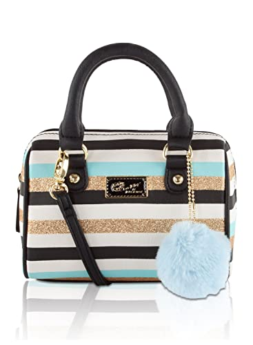 Betsey Johnson Mini Barrel Crossbody Satchel Bag