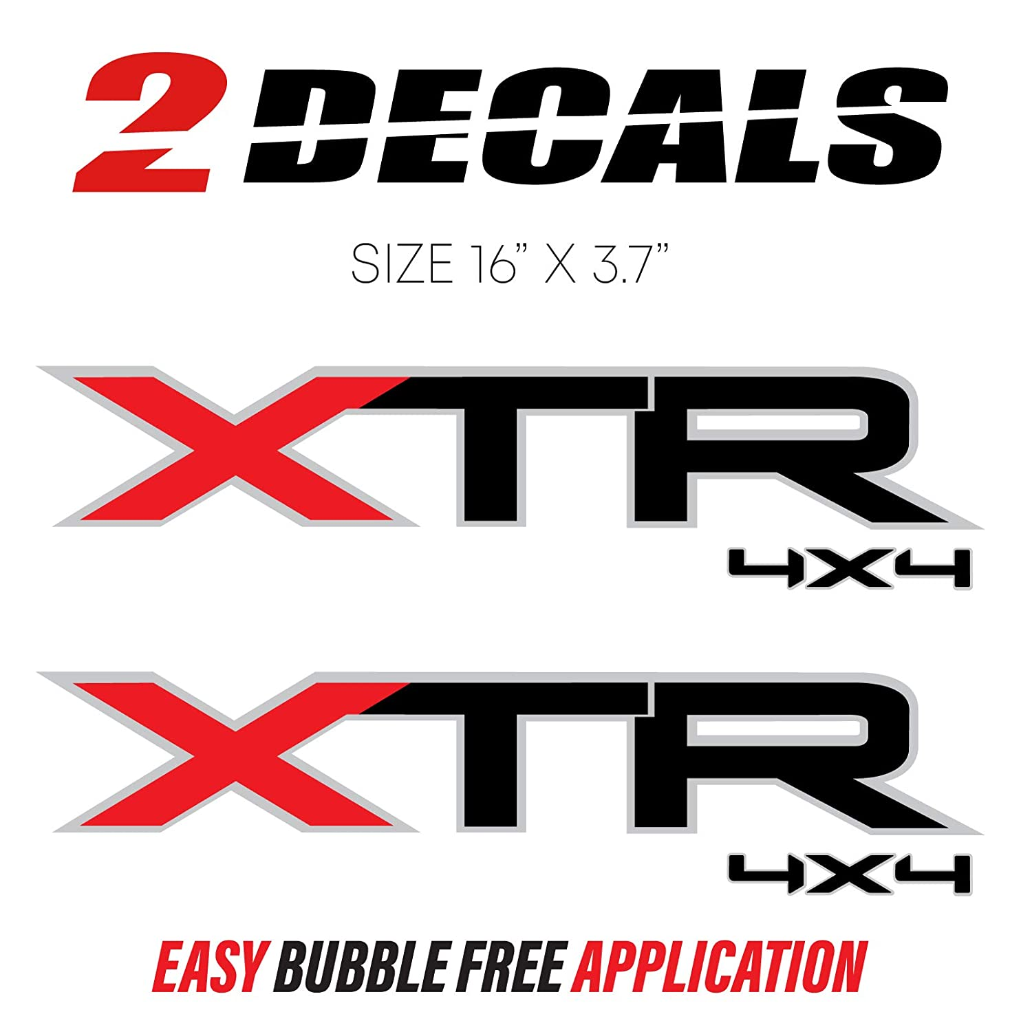 2004-2014 Ford F-150 XTR 4x4 Decal Stickers Truck Bed Side Set of 2