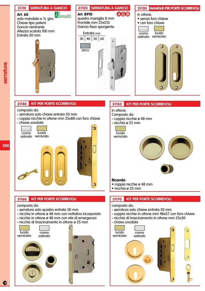Cerradura Gancho AGB/B910 TROPICALIZZATO MM.30 1PZ Unidades Sin Ojo: Amazon.es: Oficina y papelería