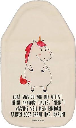 W/ärmflasche Einhorn Herz mit Spruch W/ärmekissen /& Mrs Farbe Wei/ß Mr Panda Kinderw/ärmflasche