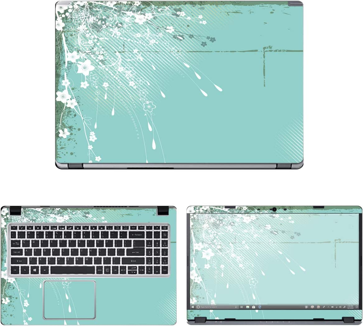 """Decalrus - Protective Decal Floral Skin Sticker for Acer Aspire 5 Slim A515-43-R19L (15.6"""" Screen) case Cover wrap ACaspireA515_43-78"""