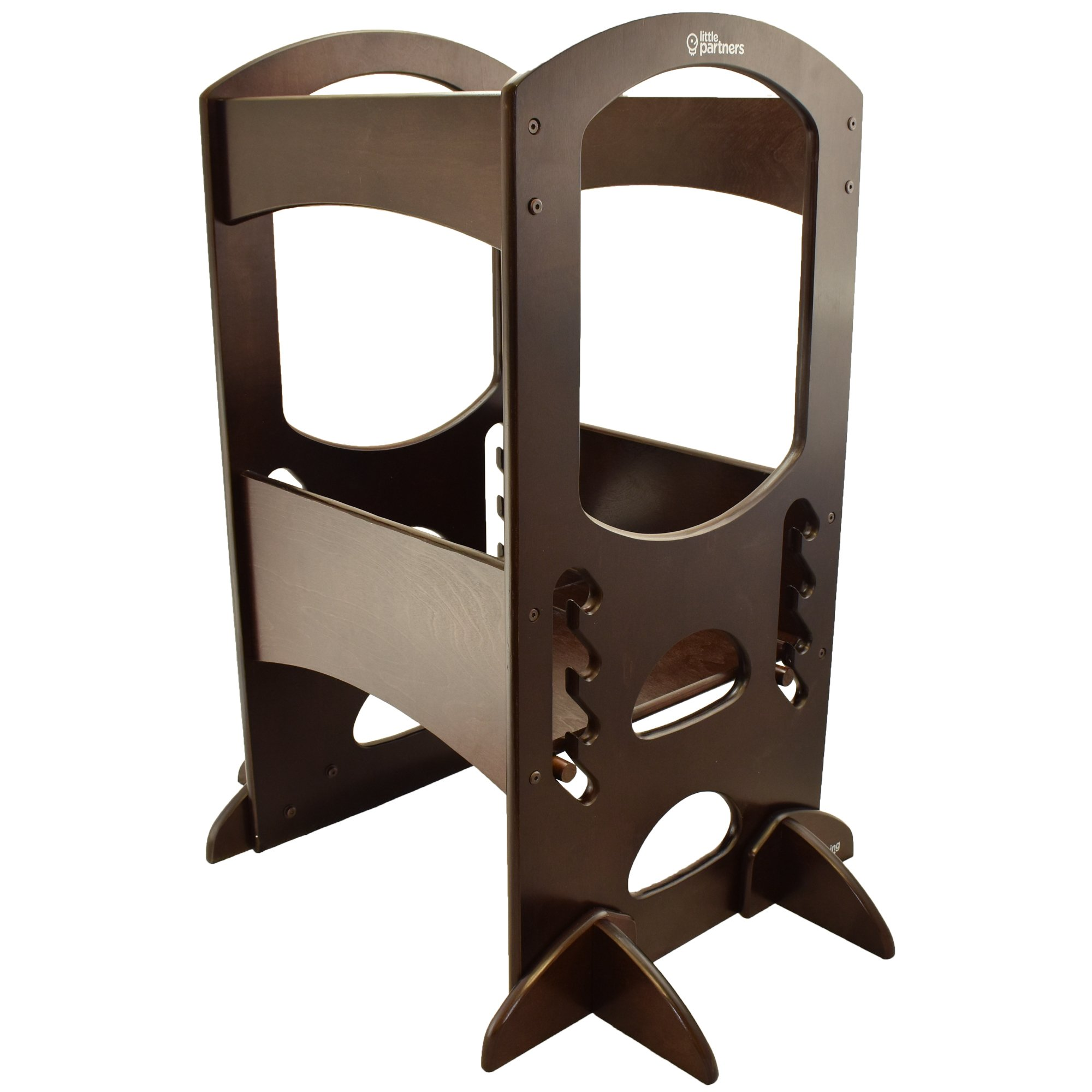 Little Partners Learning Tower Kids Adjustable Height Kitchen Step Stool for Toddlers or Any Little Helper - Espresso