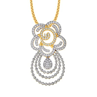 a104b3332a49ce Buy Pooja & Sonam .925 Sterling Silver and Cubic Zirconia Pendant Online at  Low Prices in India | Amazon Jewellery Store - Amazon.in