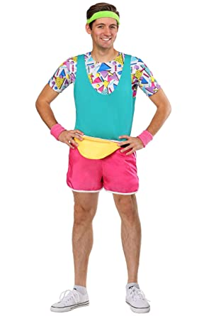 Amazon Com Men S Work It Out 80 S Costume Clothing