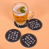 Coasters For Drinks Absorbent - DON'T FΛCK UP MY