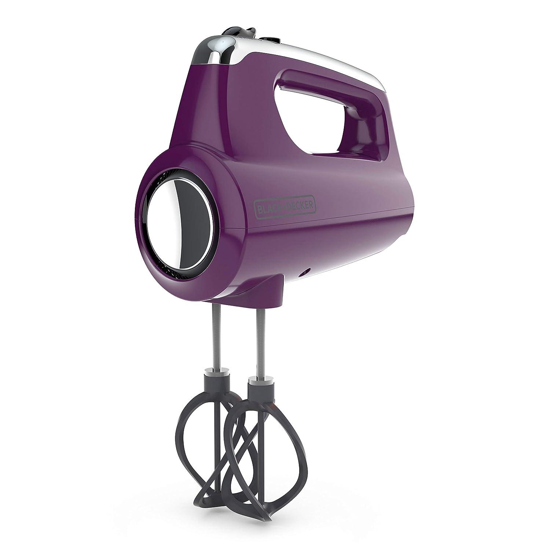 BLACK+DECKER MX600P Helix Performance Premium 5-Speed Hand Mixer Purple