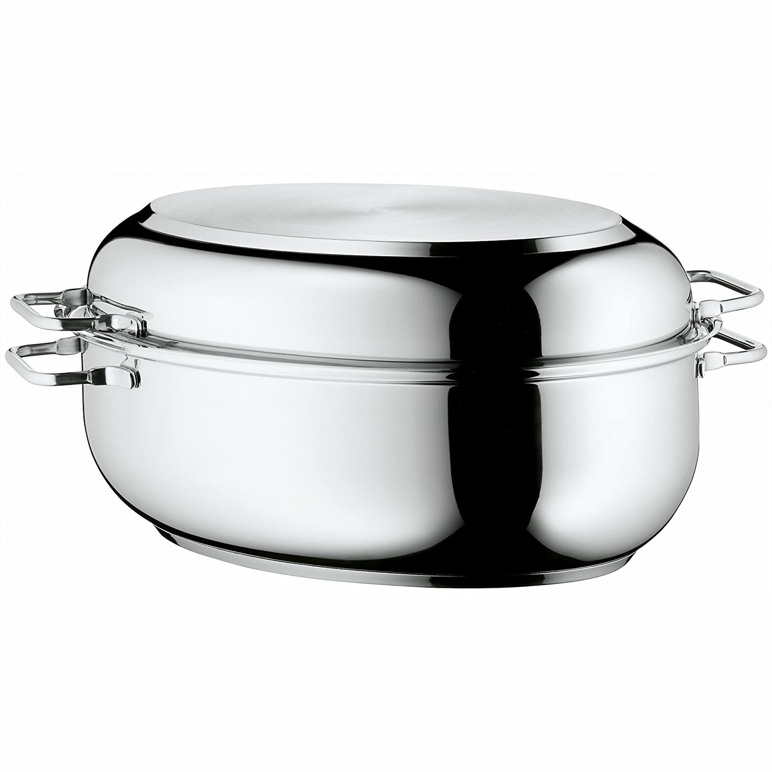 WMF Stainless Steel Deep Oval Roasting Pan, 16-1/4-Inch 8400001731