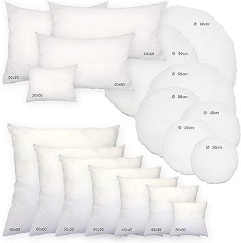 Haus und Deko Polyester Füllkissen Kissenfüllung weiß Kopfkissen Sofakissen eckig Kissen ca. 50x70 cm