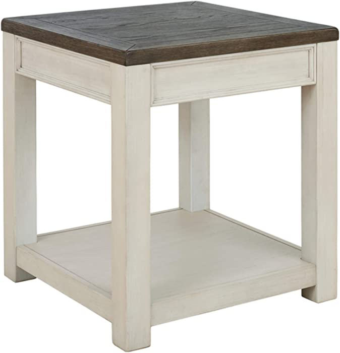 Signature Design by Ashley - Bolanburg End Table, Brown/White