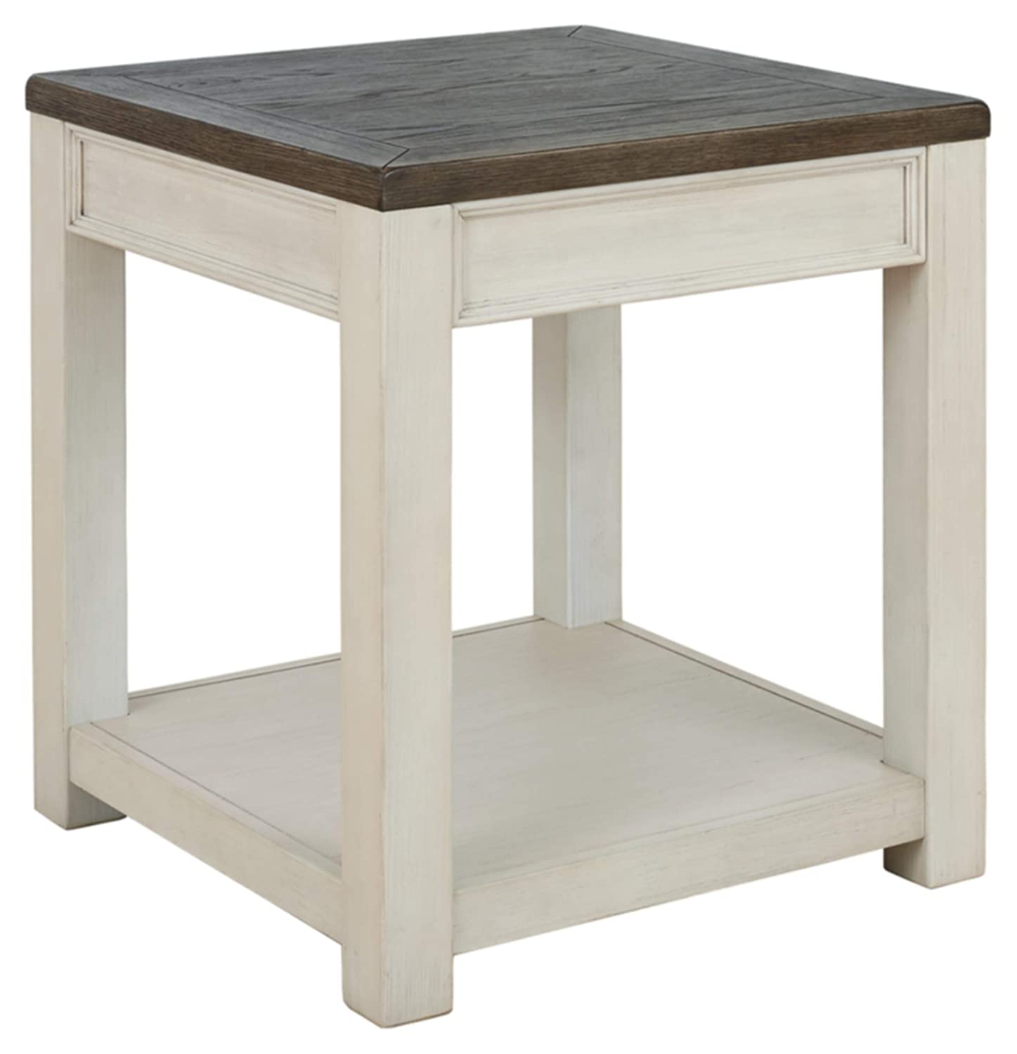 Signature Design by Ashley Bolanburg END TABLE, Brown/White