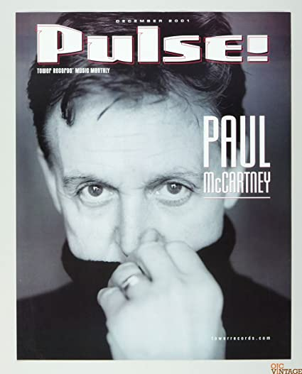 Paul McCartney Poster PULSE 2001 Dec Magazine Cover 18 X 23