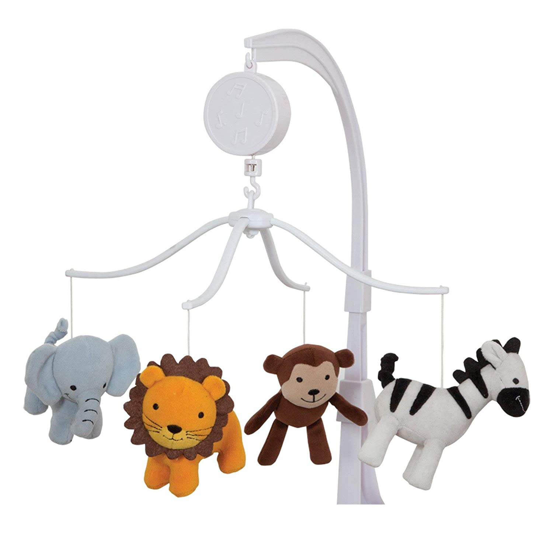 Lambs /& Ivy Bedtime Originals Jungle Buddies Musical Mobile