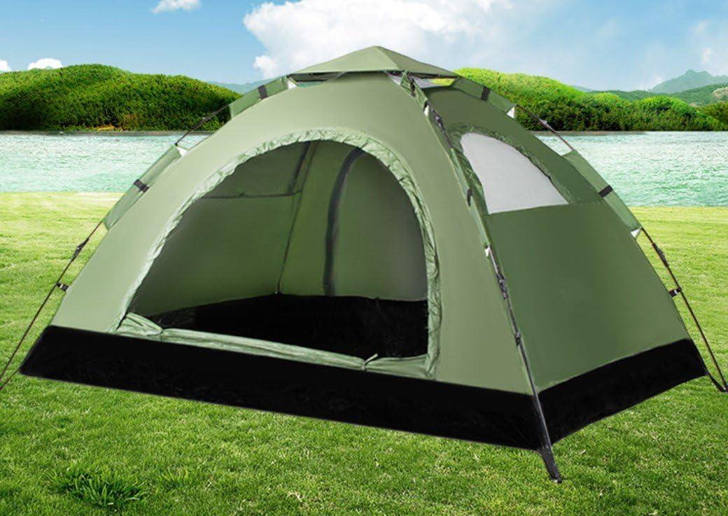 Tienda de campaña para Exteriores Doble 3 – 4 Personas 2 automático Camping Playa Turismo Camping ZXCV, Verde Militar.: Amazon.es: Deportes y aire libre