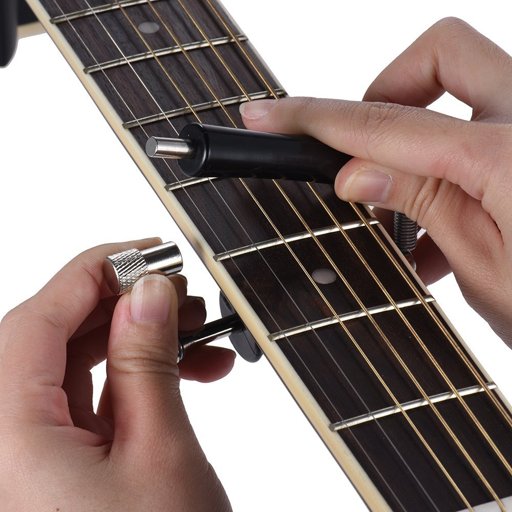 Blue Stones Rolling Guitar Capo Glider Easy Sliding Up & Down for Folk Classic Acoustic Guitars by Blue Stones (Image #1)