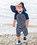 RuggedButts Baby/Toddler Boys Navy Stripe One Piece
