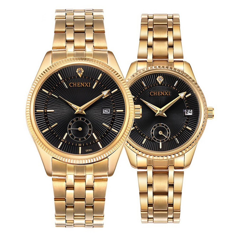 Fashion Unique Men Women Quartz Watches Cool Full Stainless Steel Couples Lovers Watch Ladies Dress Wristwatch Men Watches Clock Great Varieties Watches