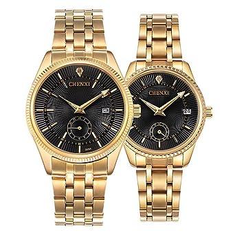 Watches Fashion Unique Men Women Quartz Watches Cool Full Stainless Steel Couples Lovers Watch Ladies Dress Wristwatch Men Watches Clock Great Varieties