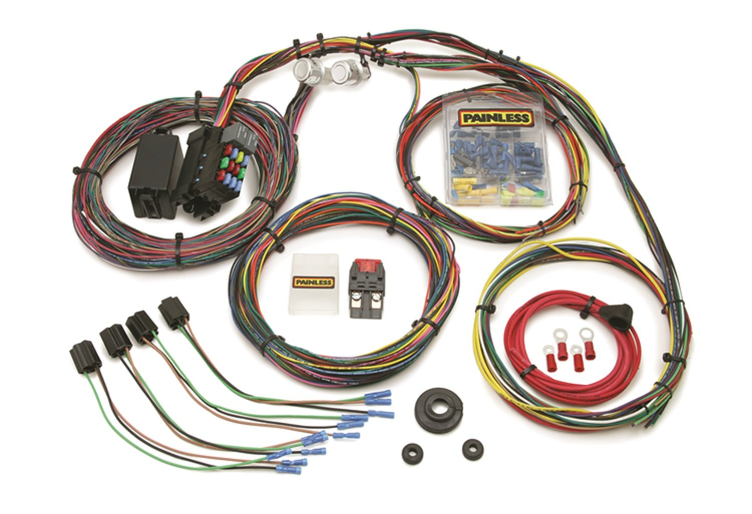 amazon com painless 10127 automotive rh amazon com Painless Wiring Installation Manual painless universal 18-circuit wiring harness