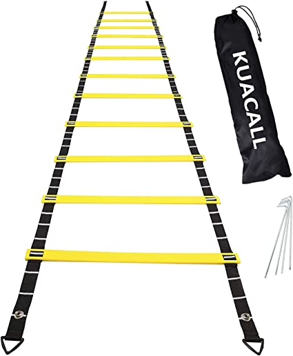 12-rung Agility Speed Training Soccer Ladder Footwork Football Straps Tool