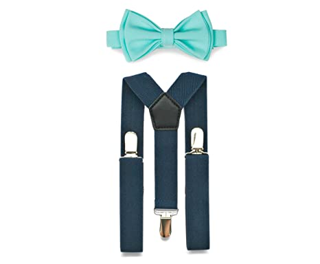 76785a472cb Amazon.com  Navy Suspenders Bow Tie Set for Baby Toddler Boy Teen Men