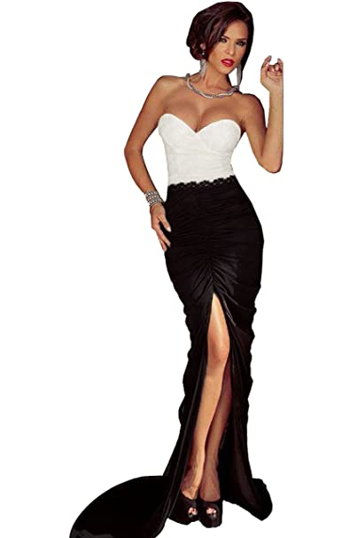 Vestido Plisado de Mujer / Vestido de Novia modelo 6992 (UNICO, NEGRO): Amazon.es: Ropa y accesorios