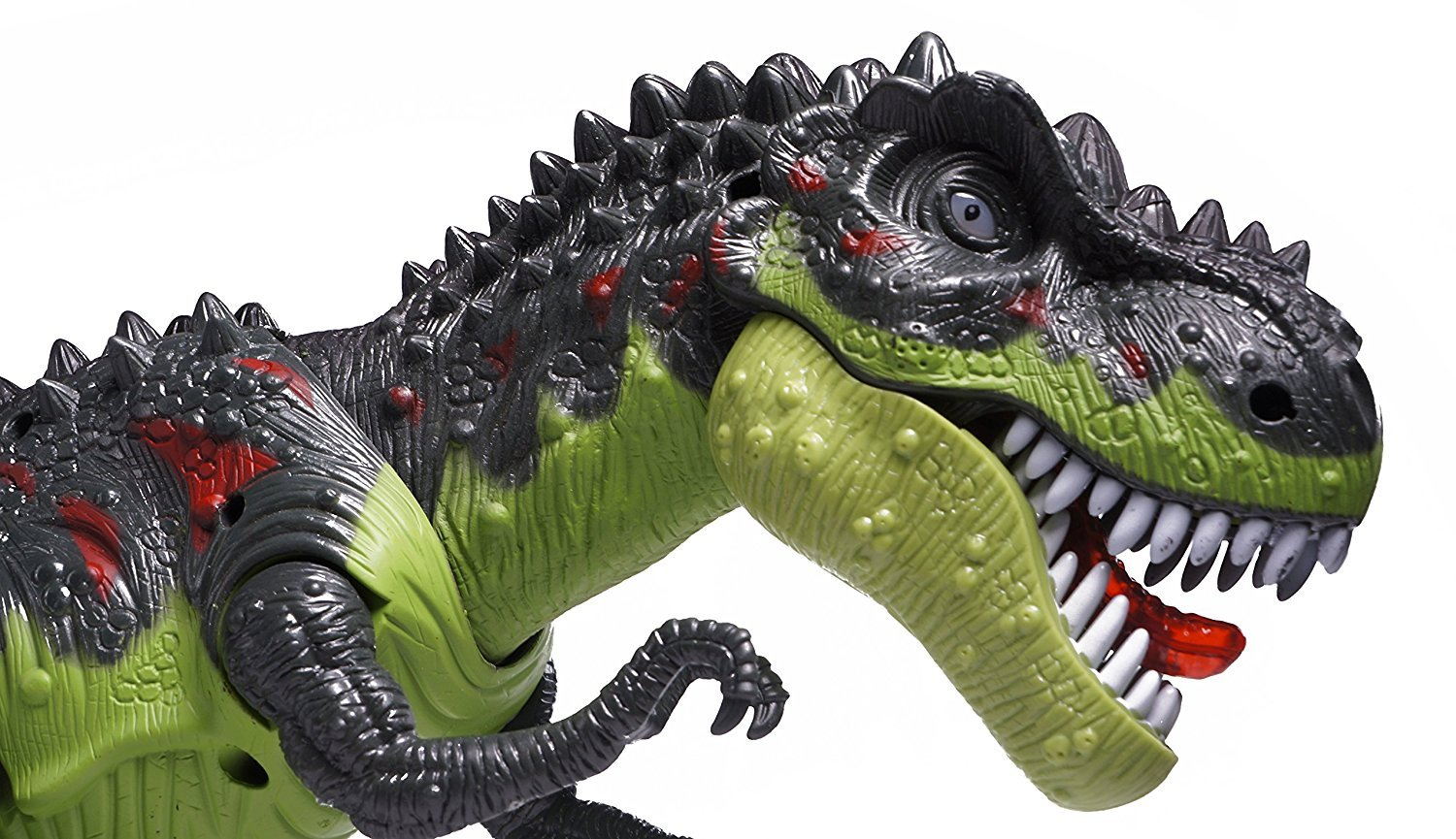 CifToys Tyrannosaurus Rex Dinosaur Walking Dinosaur Toys Kids Toy Realistic Jurassic Trex Dinosaur Action Toy Figure Walking Moving Glowing Dino Figure (Green) by CifToys (Image #3)