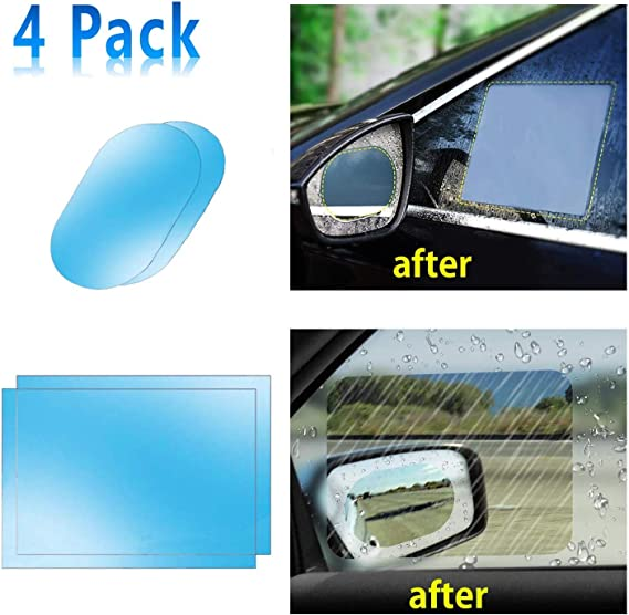 WENTS Rear View Mirror Protective Film Car Stickers HD Clear Rainproof Film Anti Fog Anti Glare Waterproof Rain Proof Universal for Car//Truck 4 Size 8 Pcs Car Rearview Mirror Protective Film