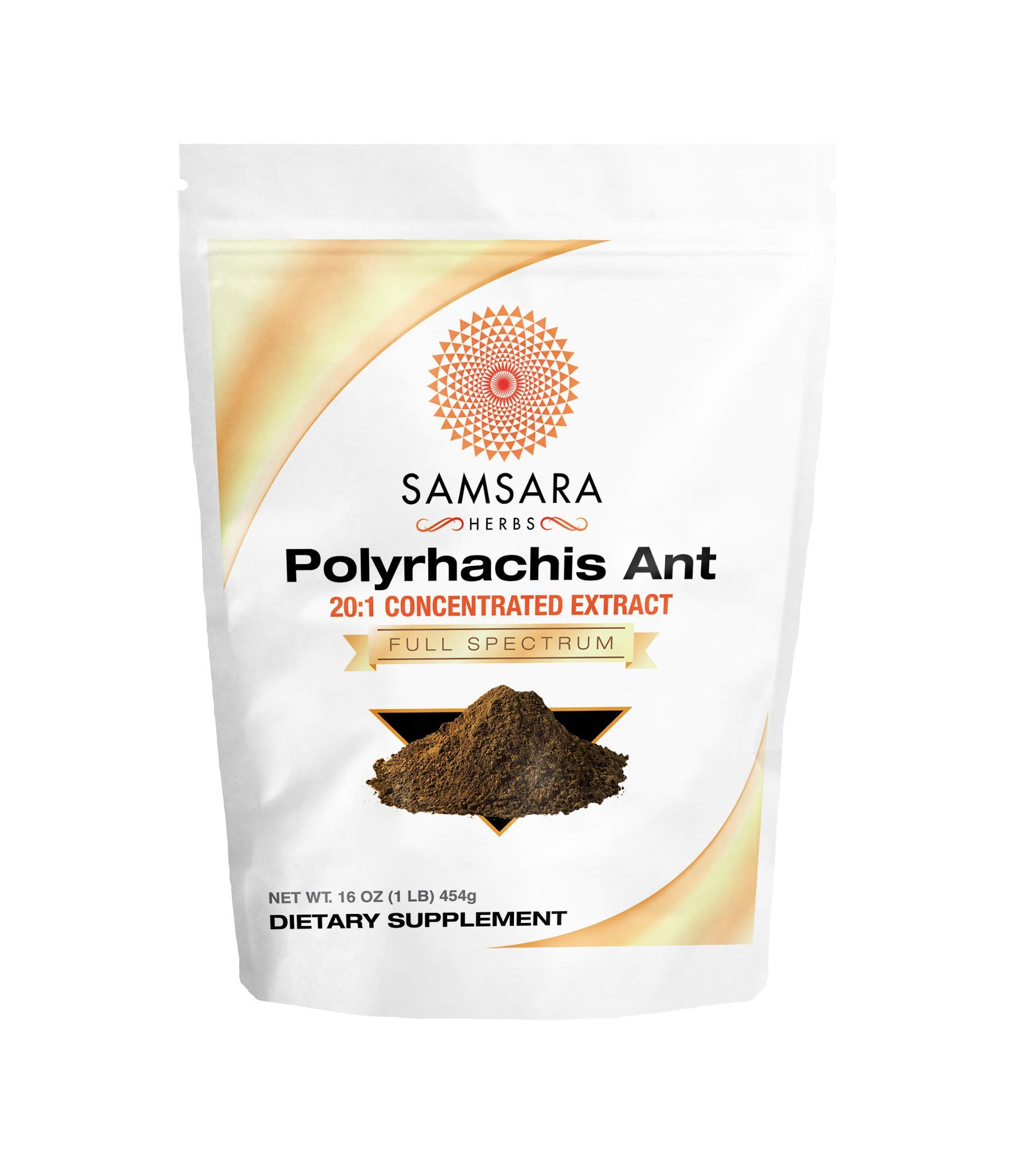 Samsara Herbs Polyrhachis Ant Extract Powder - 20:1 Concentrated Extract (16oz)