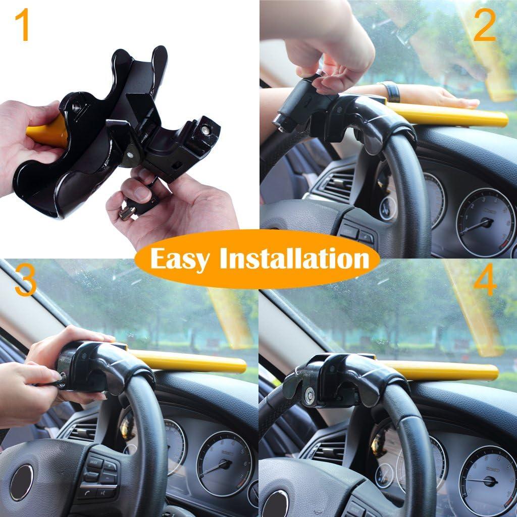 1pcs Universal Anti-Theft Car Steering wheel security lock anti theft lock steel Security Device