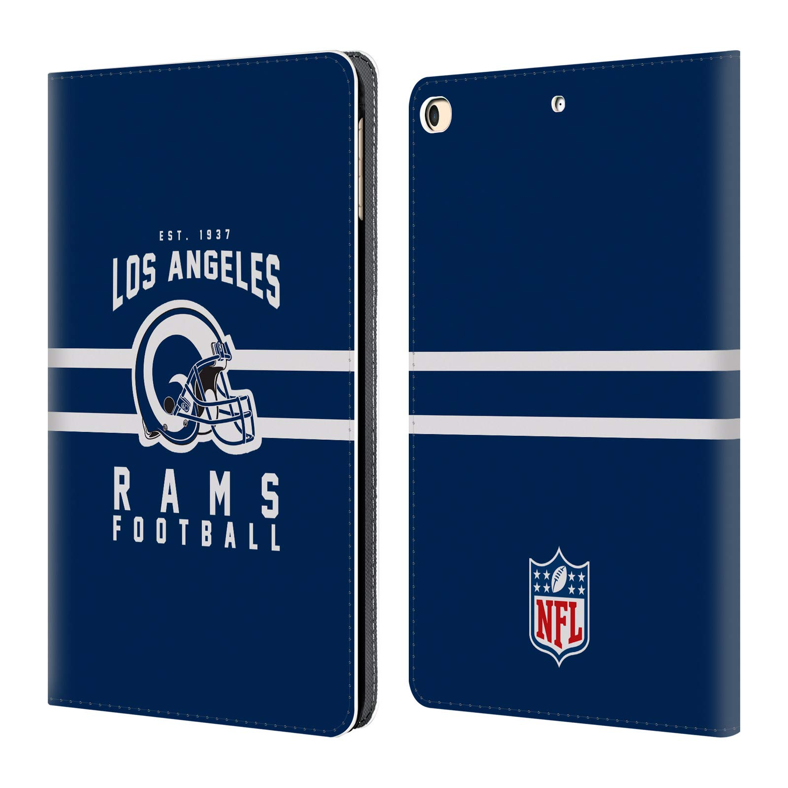 Official NFL Helmet Typography 2018/19 Los Angeles Rams Leather Book Wallet Case Cover for iPad 9.7 2017 / iPad 9.7 2018