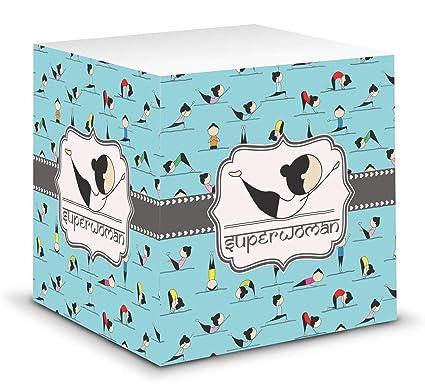 Yoga poses cubo de notas adhesivas (personalizado): Amazon ...