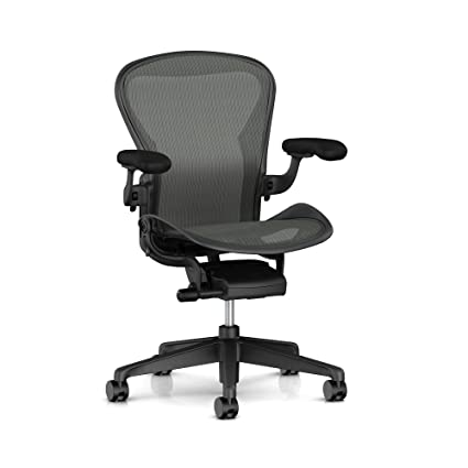 1d5939686bae Image Unavailable. Image not available for. Color  Herman Miller Aeron Task  Chair  Standard Tilt - Zonal Back Support - Fixed Arm -
