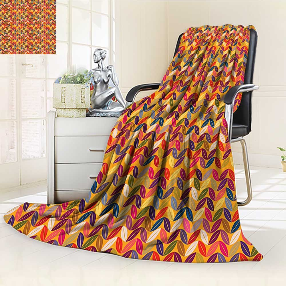 best AmaPark Lightweight Blanket Zigzag Forms with Lines and Circle Dots Digital Printing Blanket