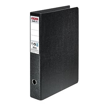 Herlitz max.file - Archivador de palanca con anillas (7,5 cm, A3), color negro: Amazon.es: Oficina y papelería