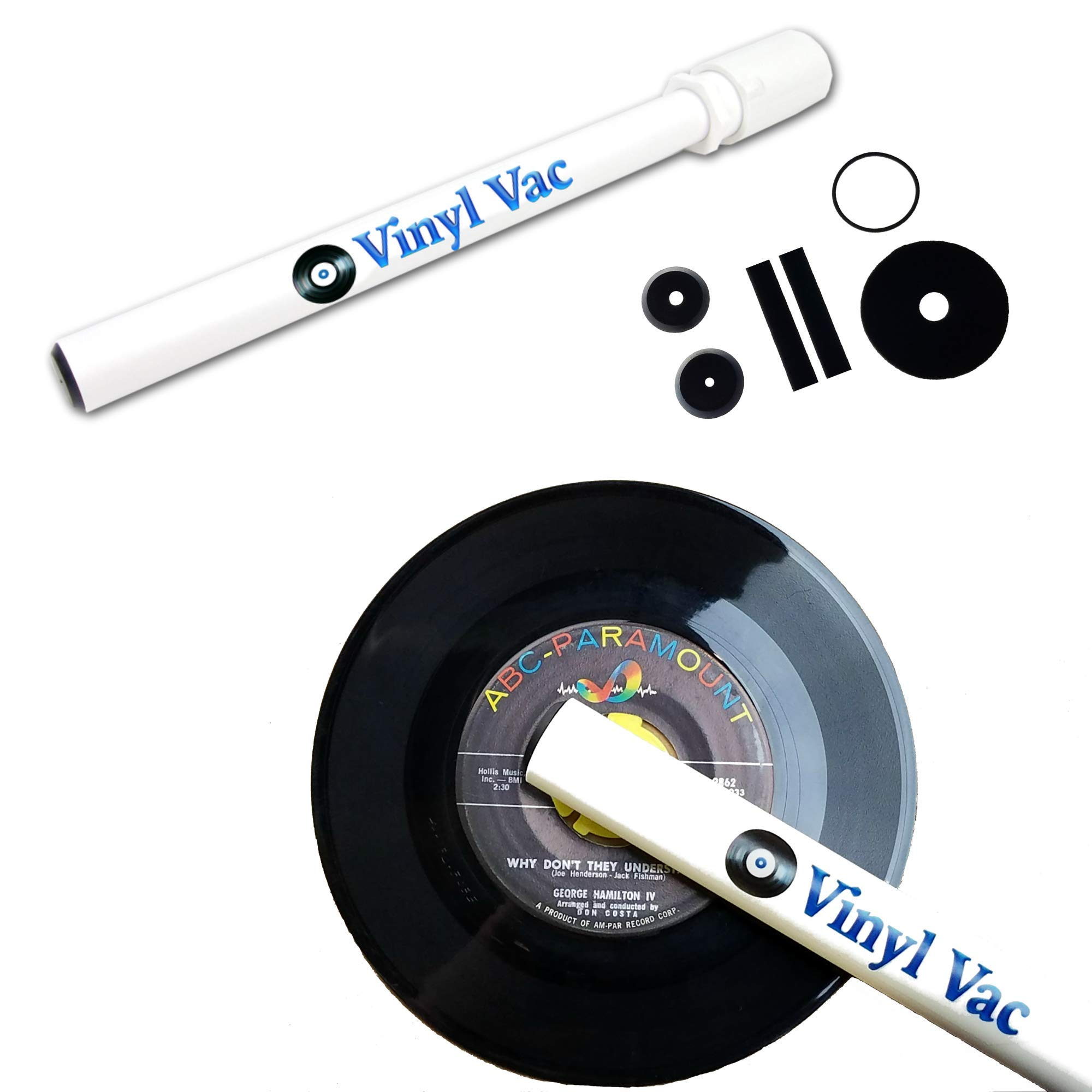 Vinyl Vac 45-45 RPM Record Cleaning Kit - Record Vacuum Wand for Deep Cleaning (Attaches to Vac Hose)