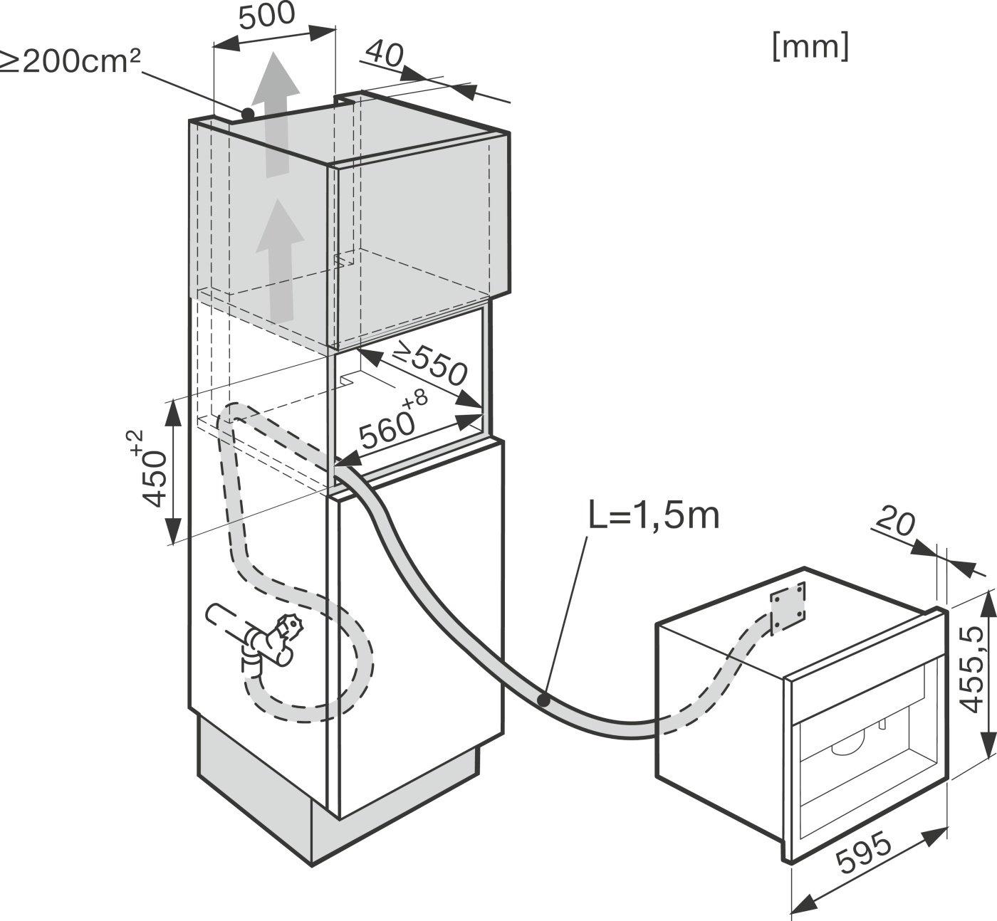 Kaffeevollautomat Wasseranschluss amazon de miele cva 6405 einbau kaffeevollautomat mit