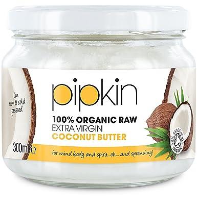 300ml Pipkin 100% Manteca de Coco Orgánico Virgen Extra y Puro, Sustituto del Azúcar