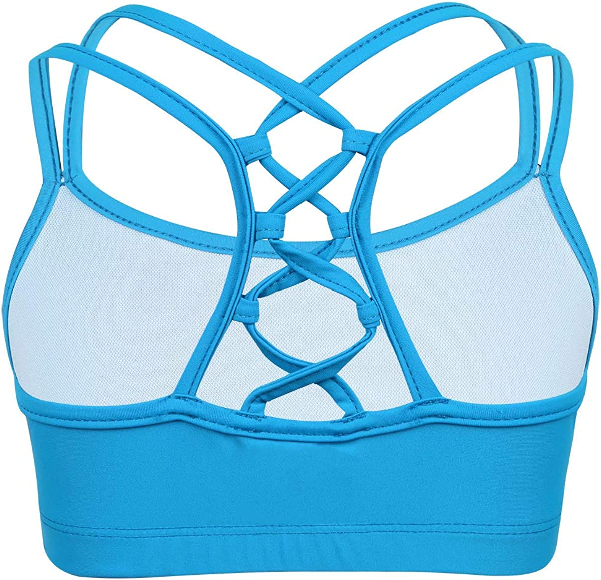 CHICTRY Child Big Girls Active Multi-Straps Slim Fit Camisole Dance Crop Top Training Bra