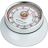 Zassenhaus Retro Collection 'Speed' - Kitchen Timer with Magnet - Times up to 55 Minutes - White