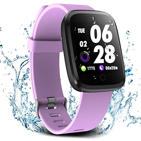 ab2959c03257de Verpro Smart Watch, Waterproof Fitness Activity Tracker with Heart Rate  Monitor, Wearable Oxygen Blood