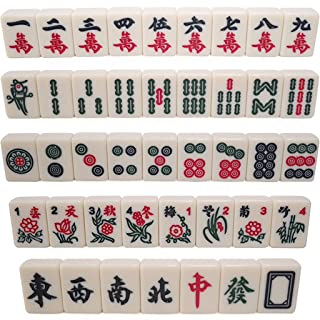 LI JING SHOP - Mini Mahjong Sparrow Card / Mahjong di mano di spostamento di mano / Tipo di mano Tipo di dormitorio Mahjong Card 3.0CM Piccolo Mahjong Card