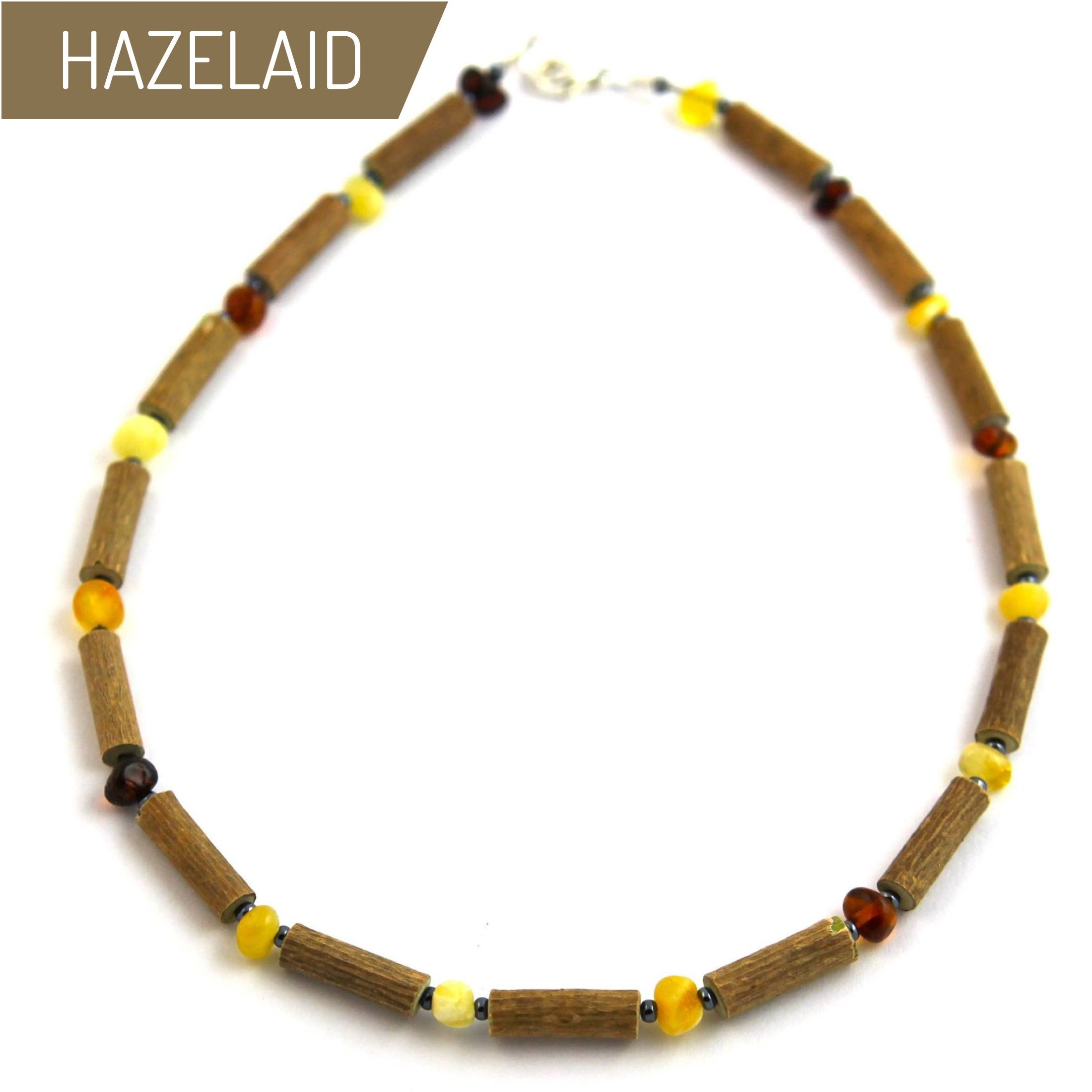 Hazelaid (TM) Child Hazelwood-Amber Necklace - 11'' Multicolored by HAZELAID