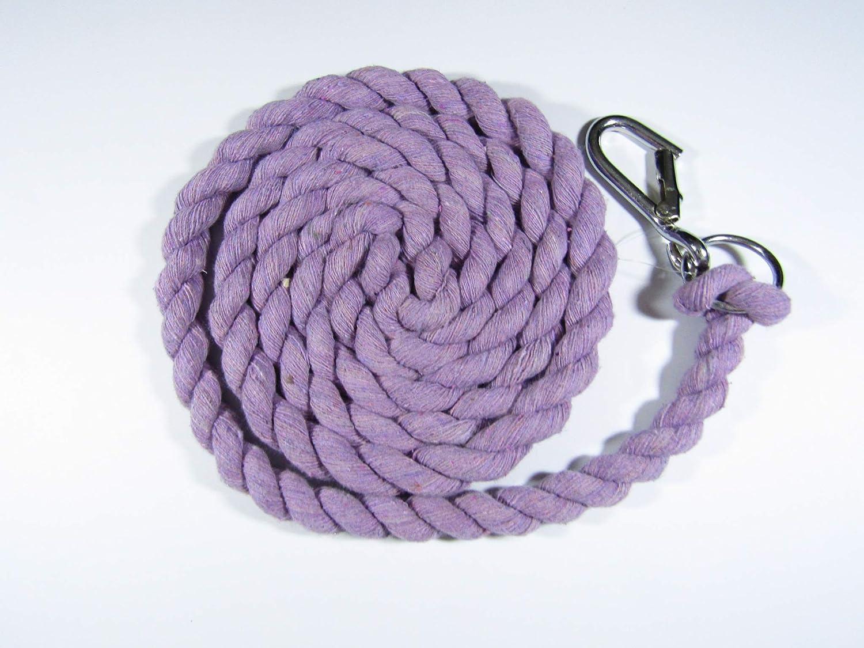 Orange, Panic Hook A/&S Eq Horse Pony Cotton Leadropes 2 metres Carabiner Clip//Quick Release Panic Hook