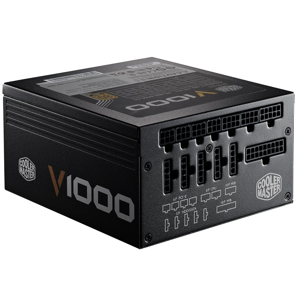 Cooler Master V1000 - Fully Modular 1000W 80 PLUS Gold PSU with Silencio Silent 135mm fan (6th Generation Skylake Ready) by Cooler Master (Image #4)