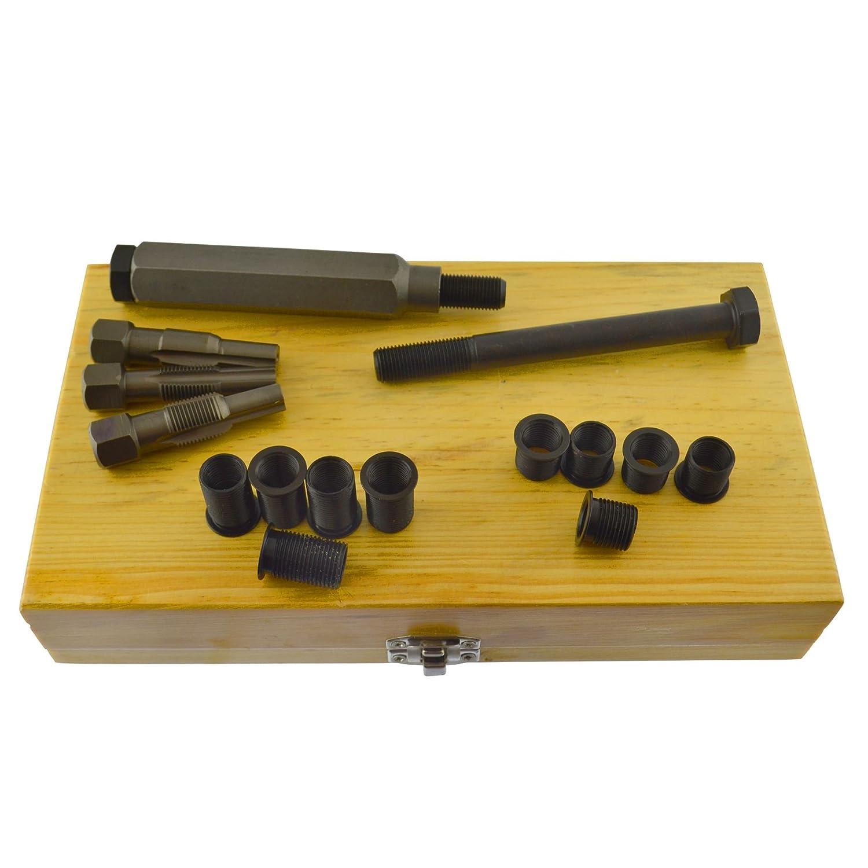 Bujía métrica Culata restaurador toca el kit de reparación de roscas M10 x 1,0 mm.: Amazon.es: Bricolaje y herramientas