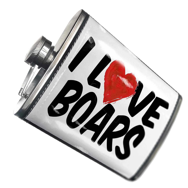 上品な 8オンスフラスコステッチI B00QQVVTPM Love Love Boarsステンレススチール – – Neonblond B00QQVVTPM, トワダシ:bfc131da --- laikinikeliai.lt