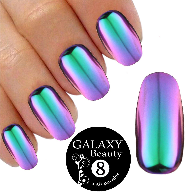 Chameleon Mirror Chrome Nail Shifting Powder Multi Colour Changing ...