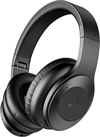 Amazon Com Tribit Quietplus Active Noise Cancelling Headphones 5 0 Bluetooth Headphones With Mic 30 Hrs Playtime Cvc8 0 Hi Fi Sound Type C Foldable Wireless Headphones Over Ear For Airplane Travel Work Black Electronics
