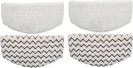 Replacement Steam Mop Pads for Bissell Powerfresh Steam Mop 1940 1440 1544 1806 2075 Series Model 19402 19404 19408 19409 1940A 1940F 1940Q 1940T 1940W B0006 B0017 Microfiber Cleaning Pad 2-Pack