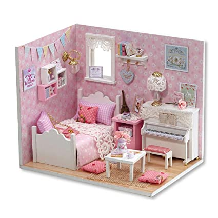 Magnificent Amazon Com Sacow Dollhouse 3D Handmade Miniature Princess Interior Design Ideas Tzicisoteloinfo